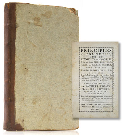 Portsmouth, New Hampshire: Printed by Melcher and Osborne, 1786. Fourth American edition of