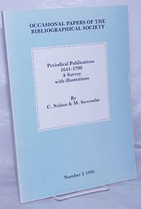 image of Periodical Publications 1641-1700; A Survey with illustrations. A Preliminary Hand-list