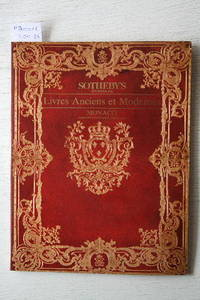 Sale 2 Décembre 1988 : Livres anciens et Modernes. Littérature Des XIXe et  XXe Siècles. by SOTHEBY'S - MONACO - from Frits Knuf Antiquarian Books (SKU: 80016)