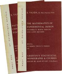 image of Patterns and Configurations in Finite Spaces, and, The Mathematics of Experimental Design (First Edition, two volumes)