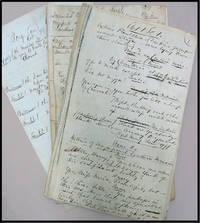 Ante Bellum Theatrical Stage Play, Original Handwritten Manuscript