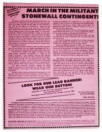 March in the Militant Stonewall Contingent!