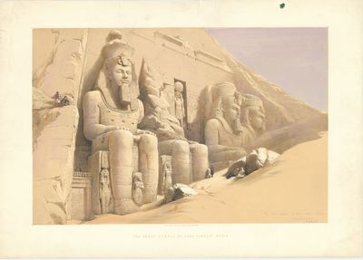 The Great Temple of Aboo Simble, Nubia.