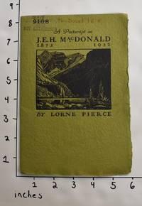 A Postscript on J.E.H. MacDonald 1873 - 1932