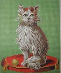 Paris. Wraps. Good. Twelve brightly colored pages of embroidery designs on cross stitch charts, feat...