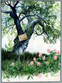 Original watercolor painting of a tree