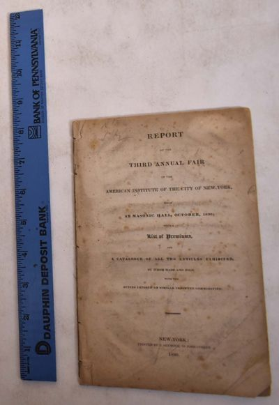 New York: Printed by J. Seymour, 49 John-Street, 1830. Paperback. Fair. Heavy soiling to outer shets...