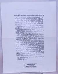 image of Minimum definition of revolutionary organizations