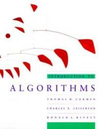 Introduction To Algorithms by Thomas H. Cormen - 1990-03-01