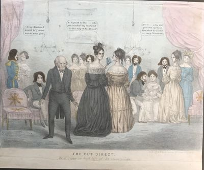 : H.R. Robinson, 52 Courtlandt Street, 1839. 29 x 37 cm. Lithograph, hand-colored. Signed in stone