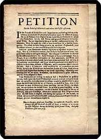 """Broadside.  Begins: """"Petition for the Laird of Kilravock and others the vassals of Lovat...."""
