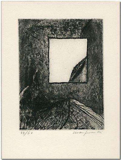 [Milan: Galerie Schwarz, 1961. Original monochrome etching, plate size 14.5 x 11 cm, on 26.5 x 19.5 ...