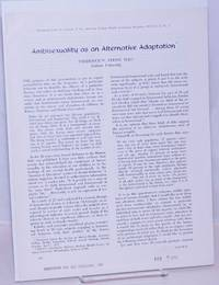 image of Ambisexuality as an Alternative Adaptation [offprint sheet] reprinted from the Journal of the American College Health Association, December 1972, vol. 21, #2