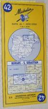 Michelin Map 42 Burgos - S. Sebastián. 1:400000
