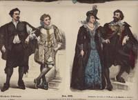 image of Munchener Bilderbogen: Zur Geschichte der Costume, No. 296 (Erster Bogen) und No. 305 (Zweiter Bogen). Erster und Zweites Drittel des Siebenehnten Jahrhundrerts