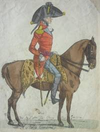 'A Noble General' Full Length Caricature Portrait of Lord Harrington, in profile, in uniform,...