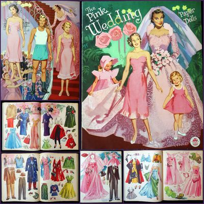 Chicago, IL: Merrill Publishing Co., 1952. An 8 costume page paper doll book with 5 punch out paper ...