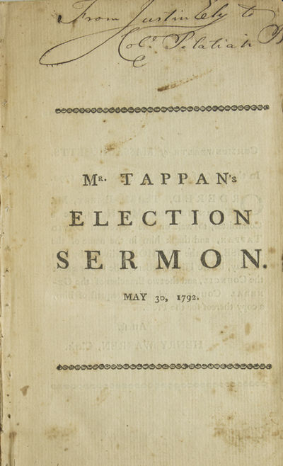 Various places, 1796. 1 vols. 8vo. Disbound but sewing still intact. 1 vols. 8vo. The sermons are as...