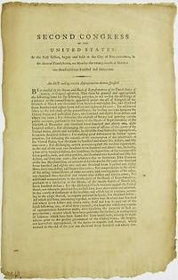 SECOND CONGRESS OF THE UNITED STATES: AT THE FIRST SESSION...AN ACT MAKING CERTAIN APPROPRIATIONS THEREIN SPECIFIED by  First Session Second Congress - 1792 - from David M. Lesser, Fine Antiquarian Books LLC (SKU: 28571)