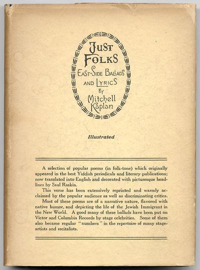 New York: Jewish-American Literary and Dramatic Guild / Knickerbocker Press, 1927. Hardcover. Fine/V...
