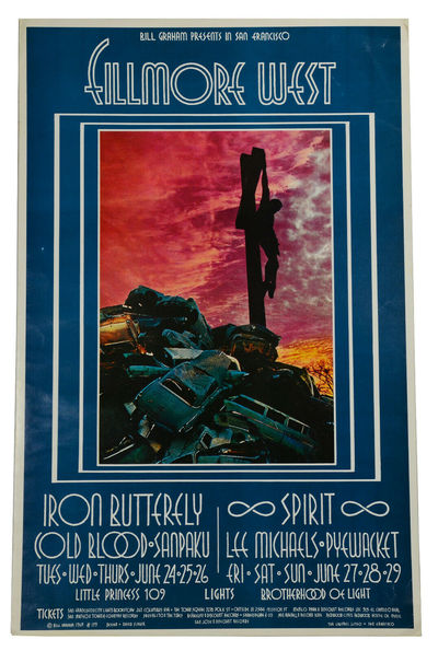 San Francisco: Bill Graham, 1969. Original poster approx. 14