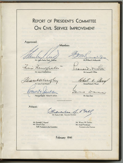 First Edition of FDR�s Committee for...