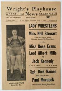 Wright's Playhouse News. Wrestling. Stage Plays [caption title]