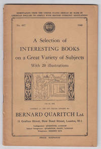 A Selection of Interesting Books on a Great Variety of Subjects  (1948,  No. 657)