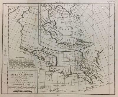 Paris, 1772. Map. Engraving. Image measures 12