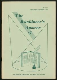 The Booklover's Answer: #7, September-October 1963
