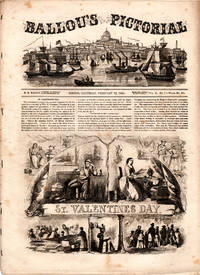 Ballou's Pictorial Drawing-Room Companion, February 16, 1856. St. Valentine's Day; Paris; Walking Leaves of Australia; Cathedral of St. Giovanni (Turin); City of Genoa; Palace of the Senate (Turin); U.S. Frigate Constitution/War of 1812; John G. Gilbert; Wellington Hill Depot; Remarkable Trees; The Miller of the Dee