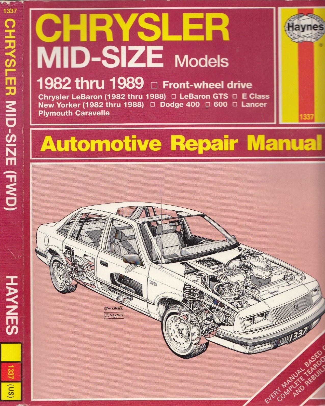 9781850107088 - Chrysler mid-size front wheel drive ... on chrysler new yorker, chrysler lebaron forum, chrysler laser, chrysler lebaron problems, chrysler lebaron motor,