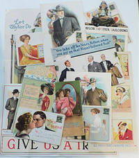 CUTTING-EDGE MEN'S FASHION ADVERTISEMENTS - ARCHIVE OF LARGE, COLORFUL, AND COMPLEX FASHION ADVERTISING MAILERS FROM THE 1910s