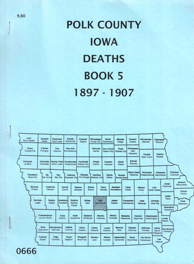 Des Moines: Iowa Genealogical Society, 1988. Paperback. Very good. 69pp. Very good in publisher's si...