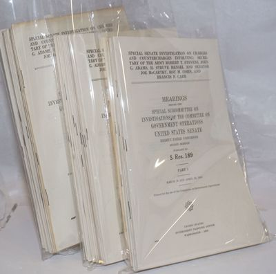 Washington DC: GPO, 1954. 71 parts in this series, we are offering parts 1-16, 45-71. Wraps, shelf w...