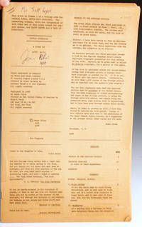 NY: Null-Q Press, 1968. First American edition. One of 250 copies printed on a mimeograph machine on...