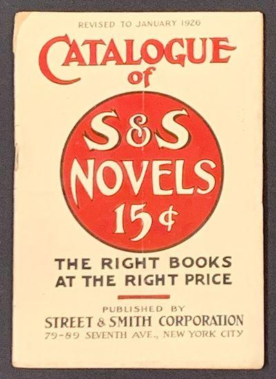 New York City: Street & Smith Corporation, 1926. 1st Printing thus (i.e., of this catalogue). White ...