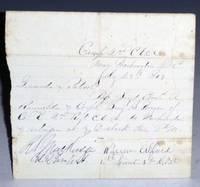Connecticut. 2nd Regiment. 1864.  (Civil War Pass)