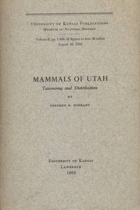 image of Mammals of Utah: Taxonomy and Distribution