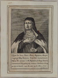 EFFIGIES DEI SERVE MATRIS MARIE MAGDALENE MAZZONI SANGIORGI VIDUE BONONIEN JOAN. FABBRIS 1750