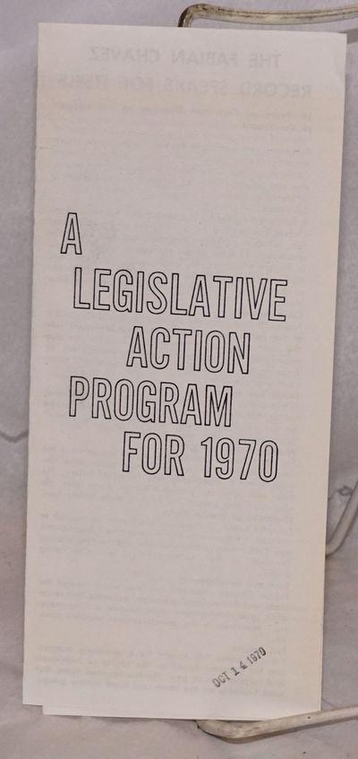 Albuquerque: Fabian Chavez for Congress, 1970. Single 8.5x11 inch sheet folded to make 6-panel broch...