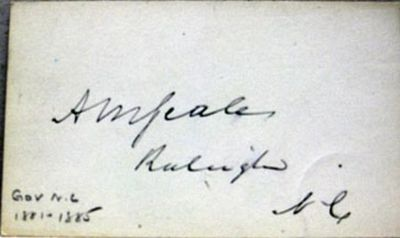 Raleigh, NC: No publisher, 1890. Book. Near fine condition. No Binding. Signed by Author(s). First E...