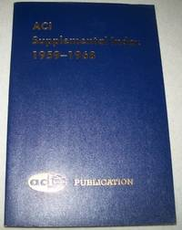 ACI Supplemental Index 1959-1968: Journal of the American Concrete Institute