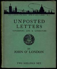 image of Unposted Letters Concerning Life and Literature