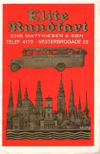 c1930  Copenhagen Travel Brochure 'Elite Rundfart' 'Matthiesen & Son