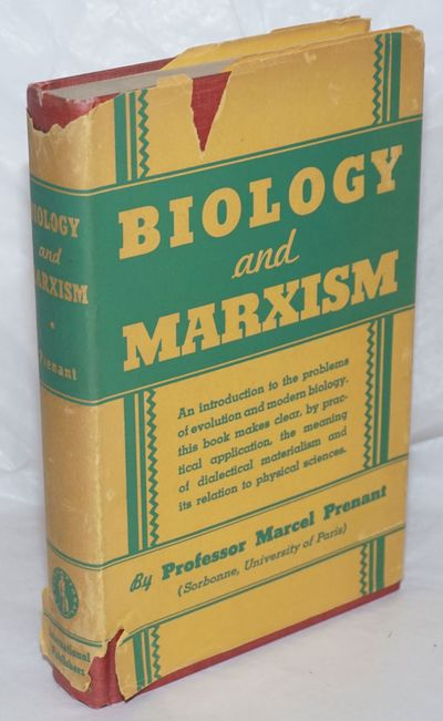 New York: International Publishers, 1938. Hardcover. 223p., with a foreword by Joseph Needham, sligh...