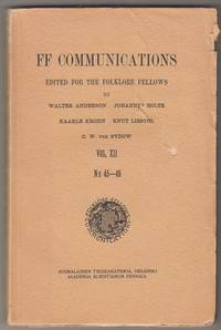 FF communications edited for the folklore fellows Vol. XII N:o 45-46