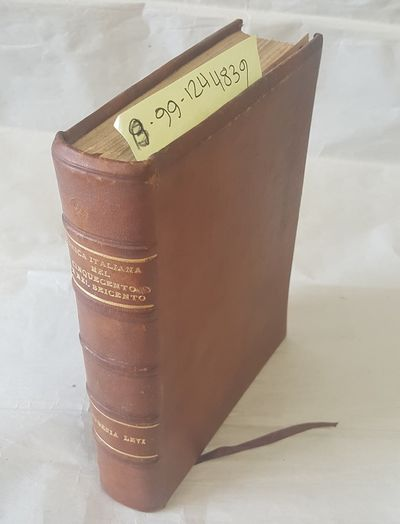 Firenze: Leo S. Olschki, 1909. First Edition. Hardcover. Octavo; G+ condition hardcover; Re-bound in...