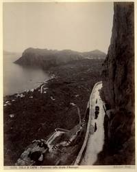 Capri. Panorama colla strada d\'Anacapri.