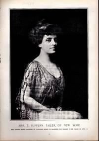 """PHOTOENGRAVING: """"Mrs. T. Sufferin Tailer, of New York...photoengraving from Harper's..."""